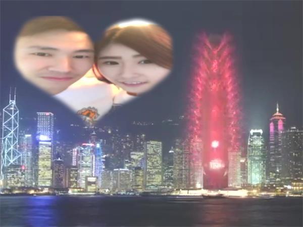 AE模板 夜景烟花大楼恋爱表达微信小视频浪漫恋人节求婚模板 AE素