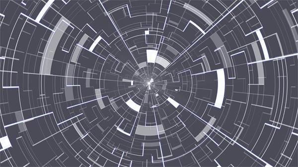 虚拟未来科技场景线条纹理万花筒效果时空穿梭隧道VJ背景视频素材