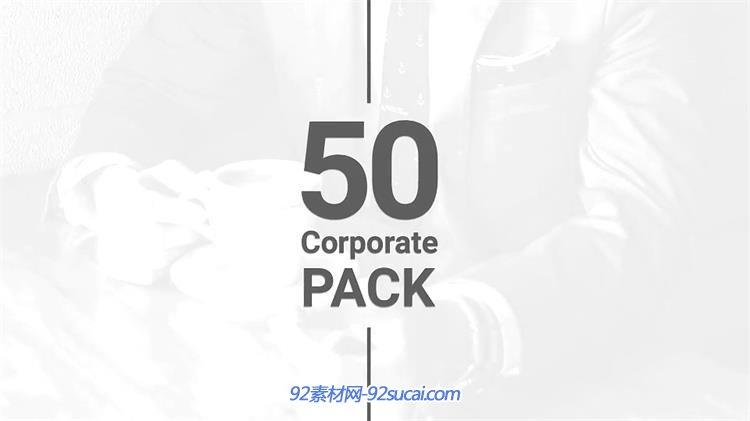 ae模板 极简风商务企业文化历程幻灯片标志场景宣传片模板 ae素材