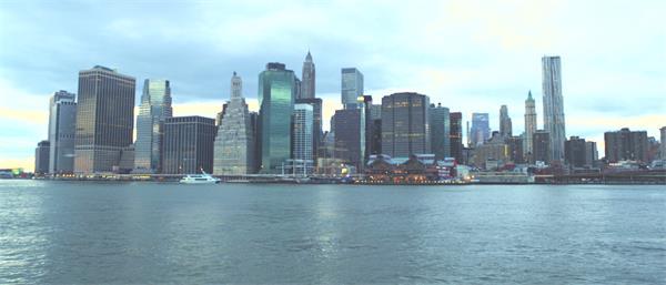 [4K]高楼耸立发达城市风貌建筑远距离海景唯美展现高清视频实拍