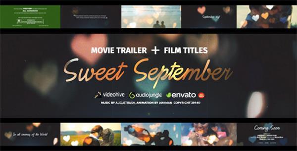 AE模板 神奇甜蜜浪漫爱心渲染电影氛围爱情故事预告片头模板 AE素