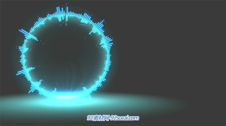 炫酷动感节奏光效圆圈音乐音频跳动派对活动舞台vj背景视频素材图片