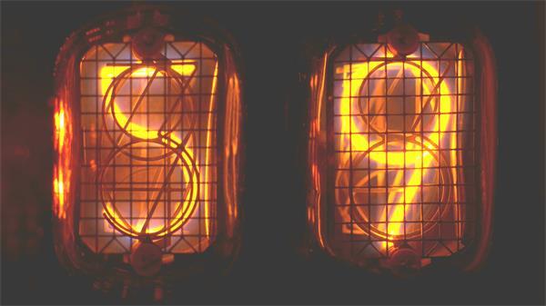 炫光倒计时线圈灯光数字运动变化时钟场景视觉LED背景视频素材