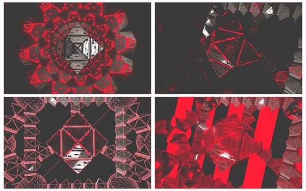 6款超空间三维炫酷科技感场景灯光闪耀节拍变革VJ屏幕配景视频素