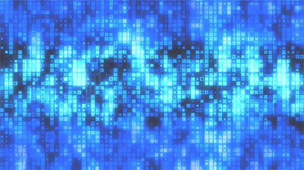 明亮蓝色科技感方形图案运动大数据网络传输场景屏幕背景视频素材