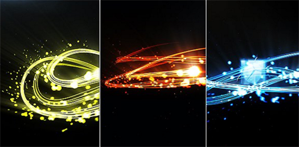 AE模板 炫酷颜色光束滑翔活动渲染企业LOGO标记收场动画模版 AE素