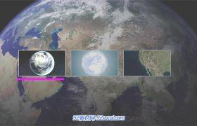 AE模板 未来智能地图定位导航俯冲视觉放大展示地标模版 AE素材