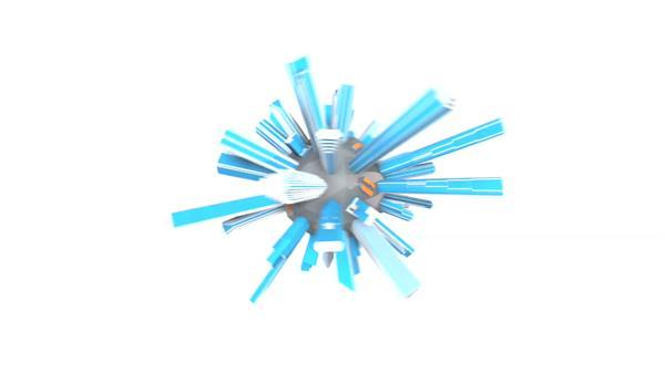 动感圆球旋转运动全球城市建筑摆放科技互联网企业背景视频素材