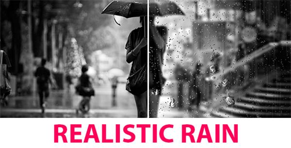 AE模板 浪漫下雨天水滴场景滤镜渲染雨动画揭示模板 AE素材