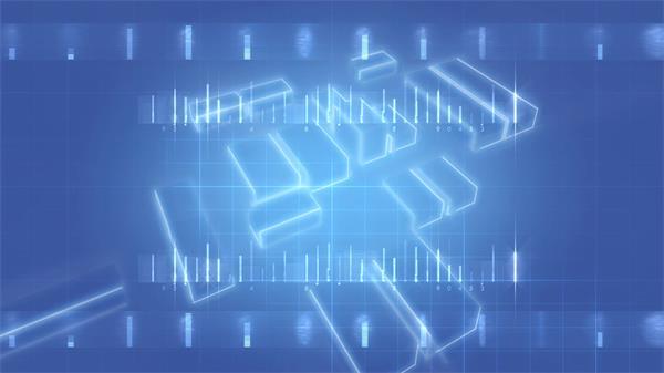 蓝色随机运动变化键盘按键方块科技网络屏幕背景视频素材
