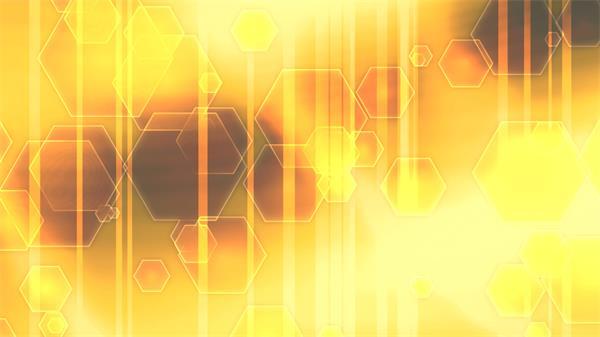 华丽色彩六角形层叠缩放变化阴影移动唯美屏幕背景视频素材