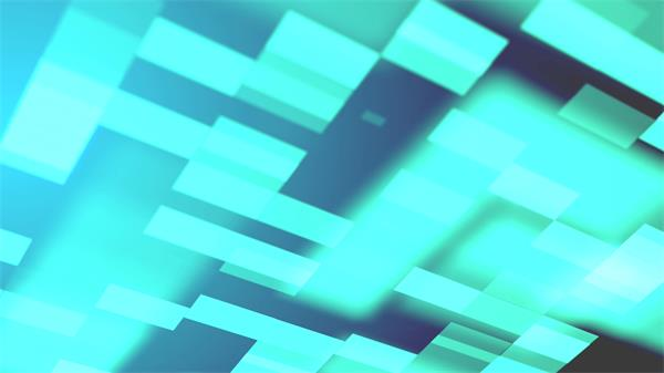科幻抽象场景光效方块交错飞行移动视觉冲击VJ背景视频素材