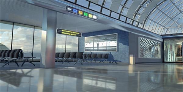 AE模板 史诗般大气3D飞机场景机场影戏结果宣传包装片头模板 AE素