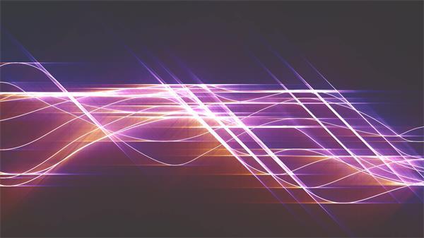 绚丽光效光波移动变化千丝万缕般柔美艳丽屏幕舞台背景视频素材