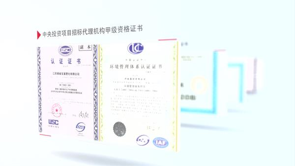 AE模板 高雅排版布局企业荣誉证书资质证书展示宣传片模板 AE素材
