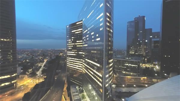 古代都会高楼修建艺术特征空中欣赏摩天大楼风光高清视频实拍