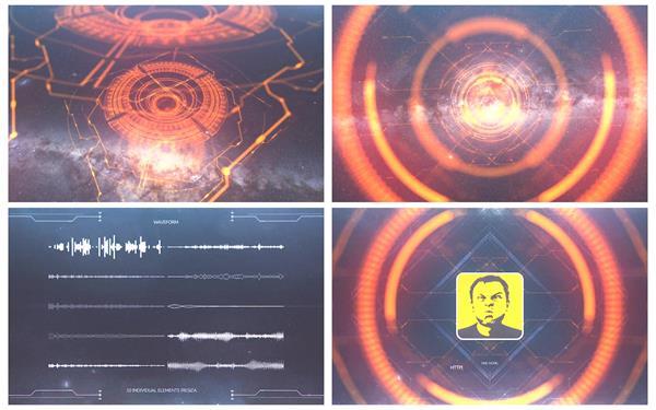 AE模板 未来科幻视觉毛刺跳动渲染科技质感元素栏目包装模板 AE素