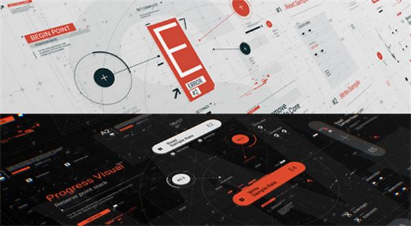 AE模板 科技智能化HUD图形滑动宣传商务企业幻灯片模板 AE素材