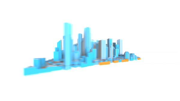 缤纷颜色假造空间都会循环旋转房地产企业抽象宣传片视频素材