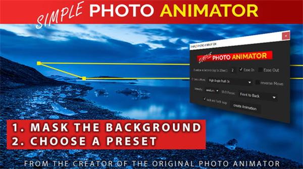 AE脚本:平面图片转三维摄像机空间映射视频动画Simple Photo Ani