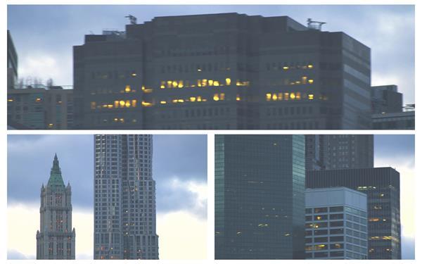 繁华都会高楼屹立修建特征旋转视觉大厦风光高清视频实拍