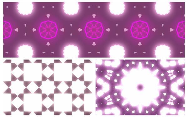 3款炫光唯美光效闪光万花筒变幻视觉冲击派对屏幕背景视频素材