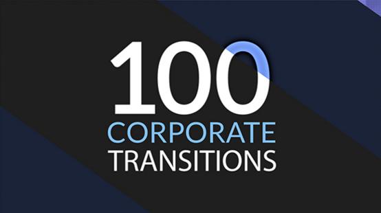 AE模板 100个图案形状场景过渡企业演示幻灯片元素模版 AE素材