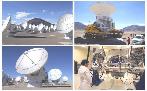 探索宇宙太空射电阵列望远镜雷达转动探测仪器生产高清视频实拍
