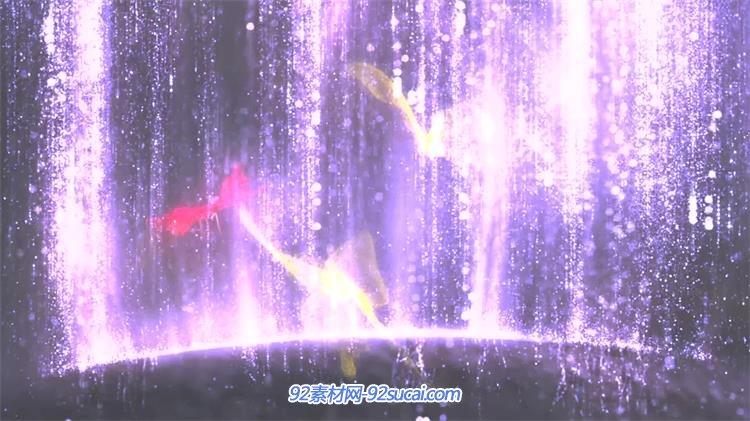 唯美动感3d蝴蝶飞舞光效粒子动态瀑布led背景视频素材