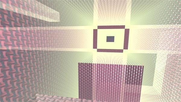 三维空间矩形立体迷宫变幻动态视觉效果舞台背景视频素材