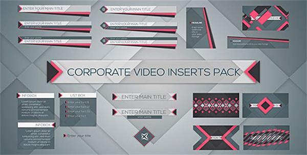 AE模板 商务企业模块化层叠图案渲染切换演示包装模板 AE素材