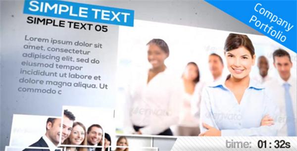 AE模板 时尚现代科技效果背景企业历程宣传推广片头模板 AE素材