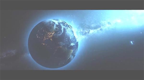 AE模板 优美星空三维空间陨石打击碰撞星球演化企业LOGO模板 AE素