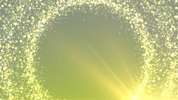 华丽高端旋转光效粒子漂浮圆环婚礼场景屏幕背景视频素材