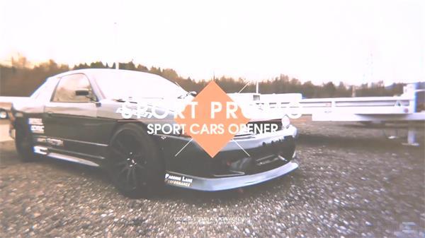 AE模板 即視感極速刺激賽車拍攝記錄拼接動態幻燈片模板 AE素材