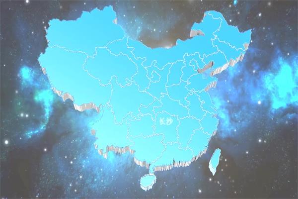 会声会影X6模板 宇宙星空蓝色地图会声会影模板公司企业广告宣传