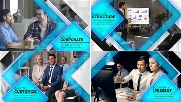 AE模板 大气商务方块渲染公司企业形象宣传开场片头模板 AE素材