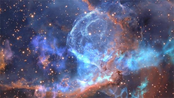 虚幻唯美大气层空间星云动画运动视觉效果舞台背景视频素材
