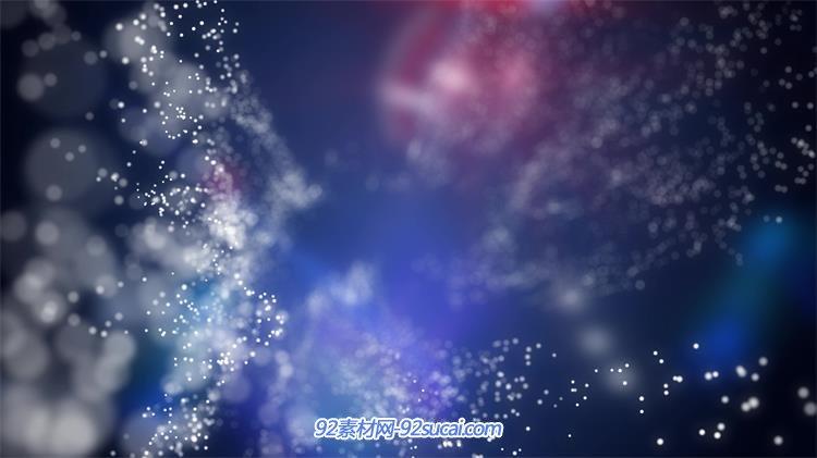 抽象蓝红模糊板块粒子闪烁运动效果动画屏幕背景视频素材