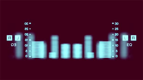 动感颜色变幻模糊音频跳动推子闪烁动态视觉屏幕背景视频素材