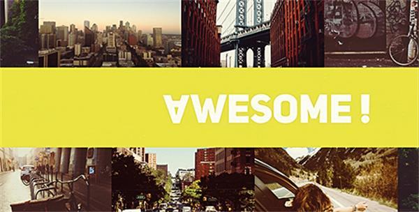 AE模板 独特现代城市动感切换场景活动派对图文展示片头模板 AE素