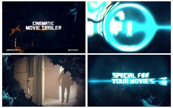 AE模板 超炫光效切换过渡场景电影预告宣传包装片头模板 AE素材