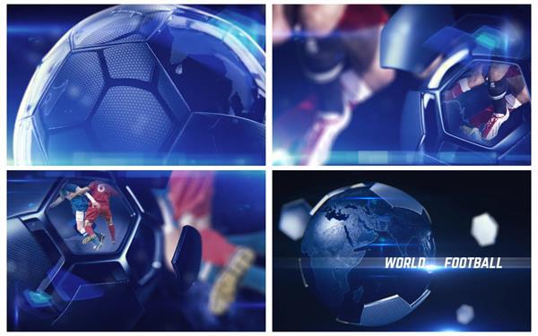 AE模板 科幻动感足球赛事形象宣传渲染场景片头动画模板 AE素材
