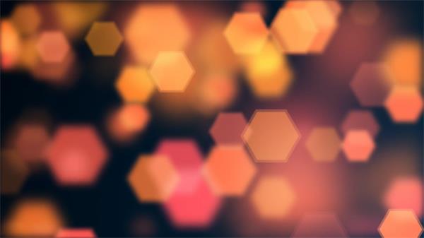 绚丽璀璨光效六边形错乱层叠飘浮渲染态视觉效果舞台背景视频素材