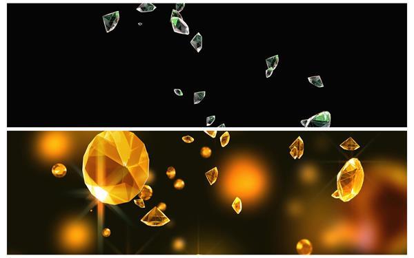 2款高贵大气钻石颗粒掉落闪闪发光华丽开场大屏幕背景视频素材