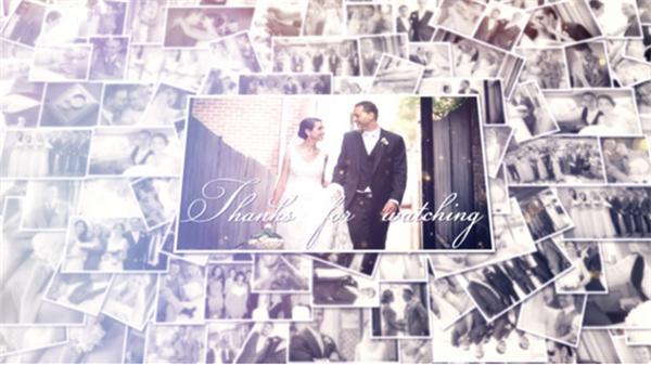 AE模板 唯美浪漫甜蜜鼓舞人心婚礼相册动态幻灯片模板 AE素材