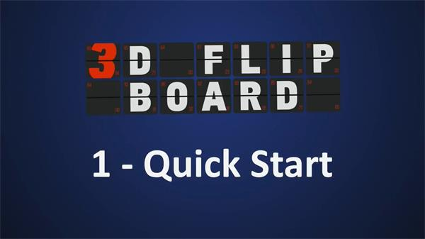 AE插件:字母�底秩��S翻��铀俣群芸飚� AEscripts 3D Flip Board v1.0