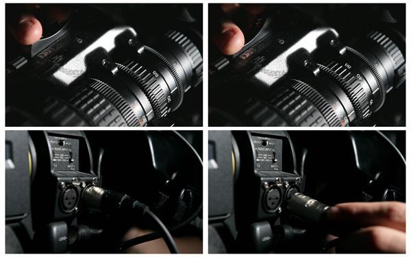 专业摄像设备摄影前准备相机调摄镜头度数插入线高清视频实拍