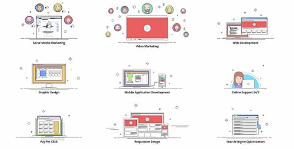 AE模板 简便科技网络IT企业抽象动画元素宣传片头提醒模板 AE素材
