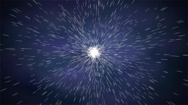 唯美分布光效粒子会聚迸发烟雾视觉结果打击片尾配景视频素材